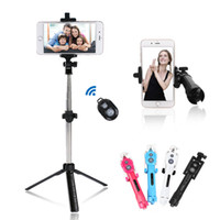 selfie einbeinstative iphone groihandel-Universal Wireless Bluetooth Telefon Selfie Stick Stative ausziehbare Einbeinstative mit Bluetooth Timer Fernbedienung für iPhone X SamSung