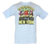 yeni moda tişört resimleri toptan satış-Avengers (Marvel Comics) Erkek T-Shirt-Bekliyoruz New York Görüntü Erkek Kadın Unisex Moda tişört Ücretsiz Nakliye