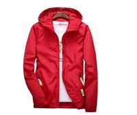 3xl велосипедная куртка оптовых-Спорт открытый Велоспорт тонкий пальто куртки человек случайные свободные Мужские ветровки куртка мужская водонепроницаемый конфеты цвета верхней одежды топы