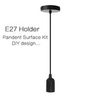 adaptador ba15d al por mayor-diseño E27 Lámpara colgante con el sostenedor del montaje Kit de accesorios fijado para el E27 / E26 tornillo de tipo Bombilla