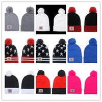 Wholesale knitted snapback for sale - Group buy 2019 New Beanie With Pom Pom Beanies Hip Hop Snapback Sports Hats Custom Knitted Cap Snapbacks Embroidery Soft Warm Girls Boys Skuilles Cap