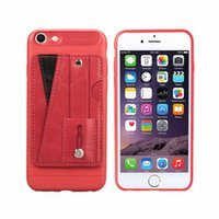 Wholesale protective case for id card resale online - PU Leather Card Case for iphone Ultra Slim Credit Card Slots ID Holder Shockproof Protective Cover for Apple iPhone xs max xr plus
