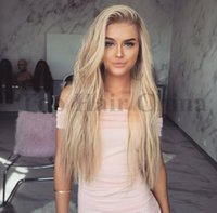 cabelo ombre para mulheres brancas venda por atacado-Perucas sintéticas do cabelo louro da peruca de Ombre para as mulheres brancas 24