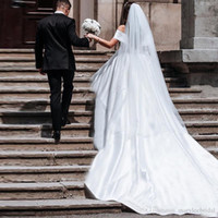 Wholesale net veils for sale - Group buy New Cheap Luxurious Bridal Veils Meters Real Image Wedding Accessories Ivory White Veils for Bride Cathedral Cpa078