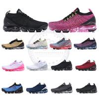 sapatos novos para o exército venda por atacado-Air Knit Fly 3.0 Tênis de Corrida Todos Os Pretos Triplo Branco Exército Verde Mens Das Mulheres Tênis Respiráveis 2019 Nova Caminhada Calçados Esportivos Tamanho 36-46