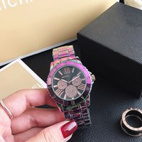 Wholesale glasses sports band for sale - Group buy Fashion M design Brand Watches women Girl MICHAEL Roman numerals style Colorful Metal steel band Quartz Wrist Watch M95