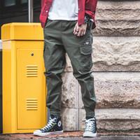 bota corte casual pantalones hombre al por mayor-2019 Hombres Moda Streetwear Pantalones vaqueros para hombre Pantalones de jogger juveniles de verano pantalones con bandas del tobillo marca Boot Cut Jeans europeos