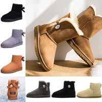 plataformas sapatos invernos para mulheres venda por atacado-UGG Designer de moda de luxo mulheres sapatos botas de neve de inverno mulher fivela de cristal marrom preto étoile senhoras plataforma crianças botas de pele austrália luxury bran