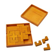 Wholesale baby brain teasers for sale - Group buy New Educational Wood Puzzles Tetris For Adults Kids Tangram Brain Teaser Preschool Educational Kid Toy Children Gift Baby Kid s