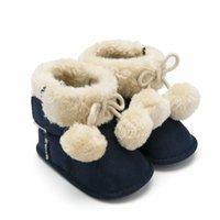 Wholesale baby soft crochet for sale - Group buy Unisex Baby Premium Soft Sole Bow Anti Slip Mid Calf Warm Winter Infant Prewalker Toddler Snow Boots