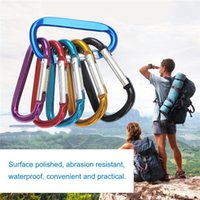 Wholesale gift bag hooks for sale - Group buy Carabiner Ring Keyrings Key Chain Outdoor Sports Camp Snap Clip Hook Keychain Hiking Aluminum Metal Stainless Steel Camping Free DHF108