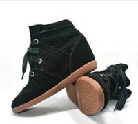 ingrosso stivali 7cm-Bobby Moda Sneakers Stivali da donna Zeppe Scarpe Vera pelle Altezza crescente 7cm Stivaletti Scarpe da donna Scarpe casual