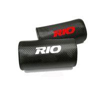 Wholesale fiber for pillows resale online - Carbon Fiber Texture PU leather Auto Car Seat Head Neck Rest Cushion Neck Support Safety Pillow Headrest Pad for Kia Rio