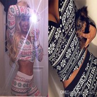 Wholesale ladies short yoga pant online - fashion Pink V collar low chest vest tank and short waist pant set tracksuit for women lady girls snowflake printed gray yoga tracksuit