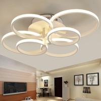 oscurecimiento de la lámpara al por mayor-Modernas lámparas de araña LED Accesorios para la sala de estar Dormitorio Oscurecimiento con control remoto Lámpara de techo Lustre del hogar