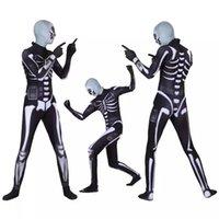 maskot kostüm kafaları toptan satış-Fortnite Kafatası Trooper maskot Giyim Baş Maskesi Ile Cadılar Bayramı Partisi Kostümleri Setleri Fortnite Giysileri DHL LA9742018 Sınırlı Sıcak Satış S Xxxl C