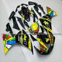 kits de carenado moto yamaha al por mayor-Custom + 5Gifts Amarillo verde negro motocicleta Carenado Para Yamaha YZFR1 09 10 11 YZF-R1 2009 2010 2011 kit de carenado del motor de plástico ABS