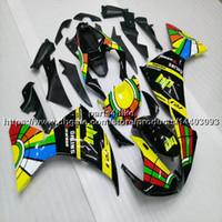 siyah yamaha kiti toptan satış-Özel + 5 Gifts sarı yeşil siyah motosiklet yamaha YZFR1 09 10 11 Fairing YZF-R1 2009 2010 2011 ABS plastik motor Fairing kiti