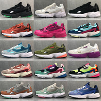 Wholesale orange falcon for sale - Group buy 2019 New Designer Falcon W Dad Shoes Fashion Luxury Casual Chaussures For Women Men Triple White Core Black Neon Pink High Quality Originals