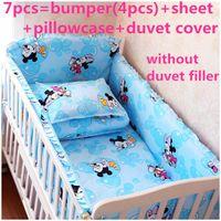 Wholesale bedding curtain set for sale - Group buy Discount Cartoon baby crib bedding set curtain cotton crib bumper set cm