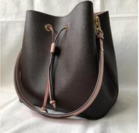 bolsa de couro drawstring venda por atacado-das mulheres designer de Moda Bucket Bag de alta qualidade pu bolsa de couro Design clássico de Bandoleira Sacos Lady Bolsas Drawstring mais cores