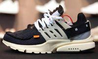 chaussures de course sans dentelle pour hommes achat en gros de-Avec Box Presto blanc noir chaussures de course de cône Top qualité cône de mousseline mens femmes taille5.5-11 baskets chaussures supplémentaires dentelle Tag shippment gratuit