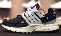 мужская обувь оптовых-С коробкой Presto белый черный конус кроссовки высокое качество конус Муслин мужские женщины size5.5-11 кроссовки дополнительная обувь кружева тег бесплатная доставка