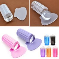 Wholesale printing nail art resale online - Transparent Silicone Nail Stamping Print Manicure Art Jelly Stamper Tools Nail Art Makeup Styling Tools HHAa169