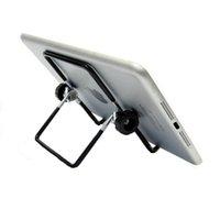 soporte para teléfono plegable al por mayor-Soporte plegable de escritorio para tableta de teléfono móvil Soporte de metal de aluminio para iPhone para iPad Mini para tabletas Samsung Smartphone
