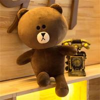 ingrosso beanie portano i bambini-35 CM Beanie Boos Brown Bear Friends Sei Stili disponibili Cony SALLY Peluche Bambola Giocattoli Animali di peluche regalo di natale Giocattoli per bambini