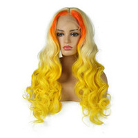 Wholesale full swiss lace human hair wigs online - Color Lace Front Wig Preplucked Brazilian Wig Remy Hair Wave Full Lace Wig Glueless Lace Front Human Hair Wigs for Black Women