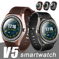 Wholesale wrist mobile phones for sale – best V5 Smart Watch Bluetooth Wireless Smartwatches SIM Intelligent Mobile Phone Watch reloj inteligente for Android Cellphones with Box