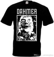 en iyi siyah fırsatlar toptan satış-Dahmer V4 T-Shirt Siyah Metal Grindcore Tüm Boyutları S-5Xl T Gömlek Erkekler Best Deals Beyaz Kısa Kollu Özel XXXL Çift T-Shirt