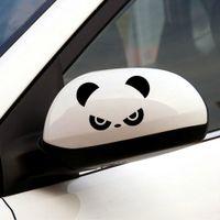 Wholesale decor doors resale online - 2pcs Auto Rearview Mirror Window Cover Panda Eyes Funny Vinyl Car Stickers and Decals Car Decor Accessories Window Door Decal