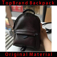 Wholesale pvc backpacks resale online - 2019 new fashion women s brand name backpack designer handbag women s bag PVC leather ladies travel bag