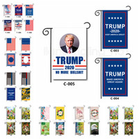 Wholesale banner props for sale - Group buy 30 cm Double sided Banner Flags Trump Garden Flags outdoor decorate American Welcome garden flag Easter flag party decor props FFA2746