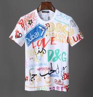 ingrosso designer abbigliamento donna-Europa Parigi Nuova D + G Designer moda Estate Street magliette 5A + alta qualità maniche corte tshits per uomo donna Pullover Tee abbigliamento 517