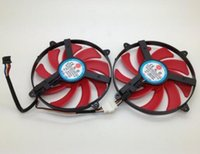 fio térmico duplo venda por atacado-NTK FD7010H12S 9 CM Ultra-fino Cartão de Exibição Dupla Ventilador de Dissipação de Calor Silêncio Quatro-fio PWM Ventilador Duplo