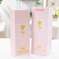 Wholesale gold clearance resale online - Clearance K Gold Foil Flower Eternity Rose Romantic Rainbow LED luminous Rose Flower Preserved Flower lover birthday gift Party Supplie
