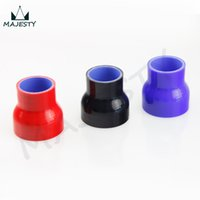 Wholesale intake coupler resale online - 5 quot to quot Straight Reducer Silicone Turbo Hose Coupler mm mm black blue red