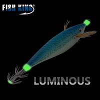 gancho de embalagem de peixe venda por atacado-atrair 5pcs FISH rei / embalar 11 centímetros 15g Pesca Lure iscas de madeira Camarão Isca Wobbler Luminous Squid gancho Luz Jigs Para Pesqueiro