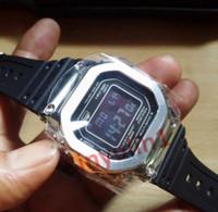 beste außenleuchten großhandel-Mens Best Selling 2019 Sportuhren Outdoor Wandern Mens Transparent Kautschukband LED Digital Wirtswatches mit Back Light Shock Mens Clock