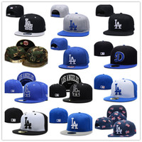 Wholesale mens hats caps styles resale online - 32 colors and style in stock New Fashion LA hat baseball caps Dodgers Snapback for womens mens peaked cap casquette hip hop bones