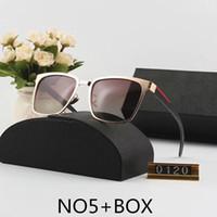 очки для сына оптовых-Cолнцезащитные очки Роскошные солнечные очки женщин людей Adumbral очки UV400 Марка P0120 6 цветов Дополнительный Высококвалифицированные качества с коробкой
