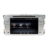 ford mondeo radios großhandel-2 din android 9.0 dsp auto dvd player gps navigation 2g + 16g quad-core stereo für ford mondeo / focus fm rds radio wifi headunit