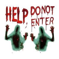 ingrosso adesivi da parete della decorazione della stanza-50 * 48cm Halloween Sticker Zombie Lettera Soggiorno Camera da letto Adesivo per finestre Adesivo per auto Creativo Decorazione di Halloween HHA748