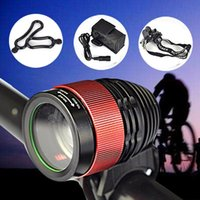 Wholesale bicycle safety accessories for sale - Group buy T6 LED Bicycle Lights Front Handlebar Cycling Night Warning Safety Headlight Battery Head Lamp Bike Accessories