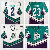 Wholesale Custom Vintage Andrei Zyuzin Kentucky Thoroughblades Dan Boyle Hockey Jerseys White Green Embroidery Stitched Any Number Your Name