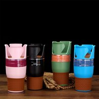 Wholesale car cell phone organizer resale online - Rubber Multifunction Car Drinking Bottle Holder Rotatable Water Cup Holder Cell Phone Organizer Car Interior Accessories