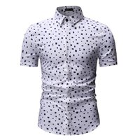 Wholesale mens double shirt dress for sale - Group buy Plaid Shirt Men Camisa masculina Mens Dress Shirts Casual Short sleeve White Red Hawaiian Shirts Mens Slim fit